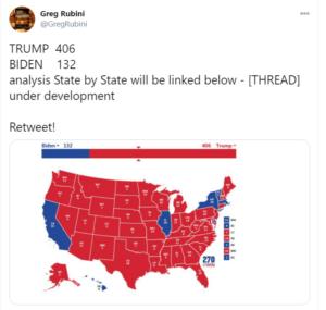 美国大选 - 川普406:132大赢拜登