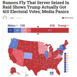 川普赢得410张选举人票