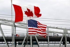 美国加拿大国旗边境