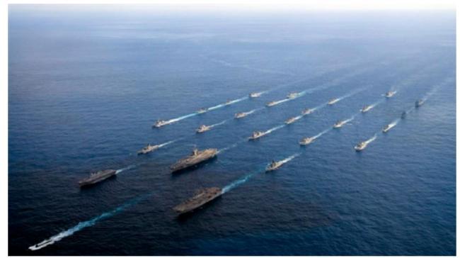 美国澳大利亚日本印度海军舰队