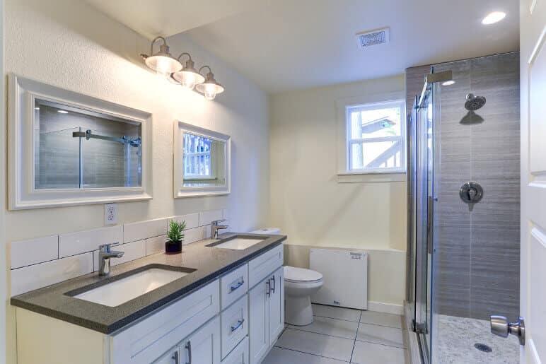 new bathroom remodel and plumbing in houston