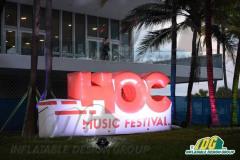 Hoc Music Festival Logo Inflatable