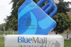 blue mall inflatable logo block