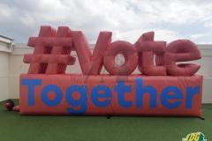 Custom Inflatable Vote Together Logo