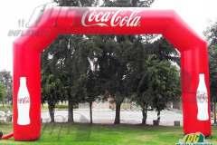 coca cola inflatable angular arch