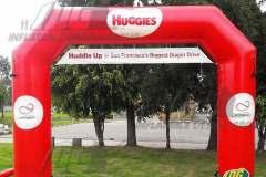 huggies custom inflatable arch