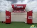 St. Johns Custom Inflatable Angular Arch