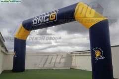 university custom inflatable angular arch