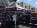 ESPN set up custom vendor tent