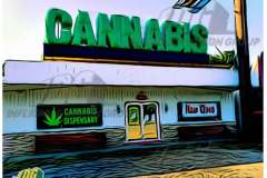 Inflatable Logo Block Letters for cannabis Shop