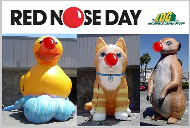 Inflatable Design Group Supports Red Nose Day 2015