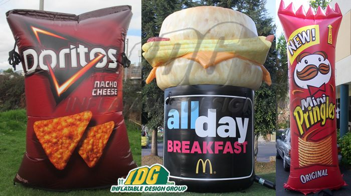 Hungry? Try Giant Inflatable Food Promotion from IDG