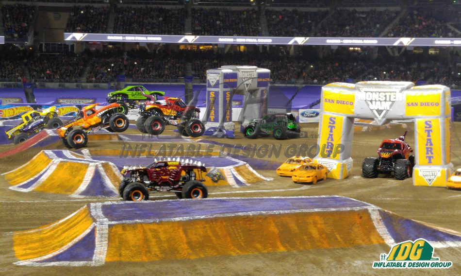 Monster Jam Arches at Petco Park San Diego 2016