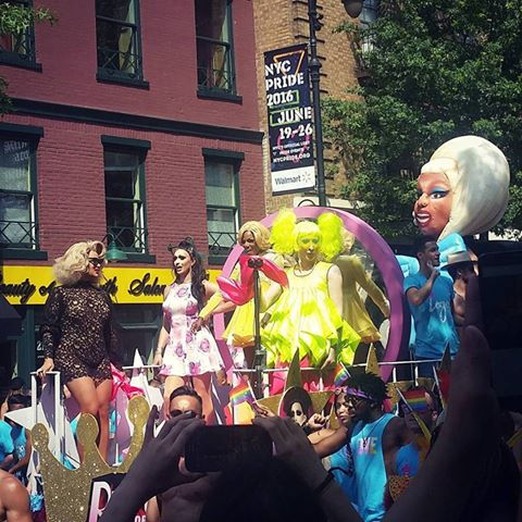 NYC Pride March and the Drag Queen Inflatable from IDG