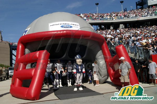 Inflatable Helmets from Inflatable Design Group on Game Day