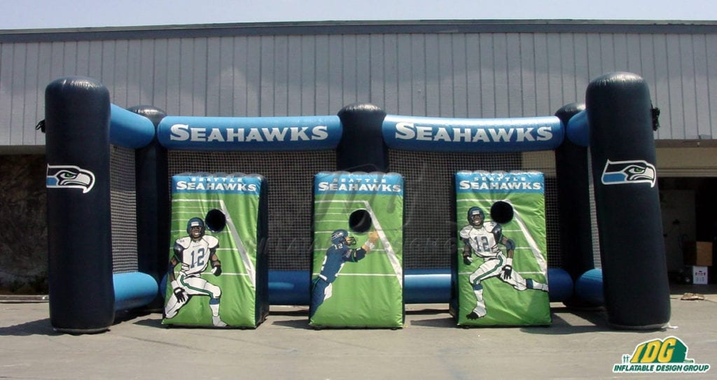 Throw the winning pass with interactive inflatable football games 3