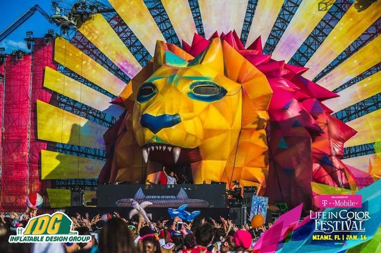 Life in Color Inflatable LION