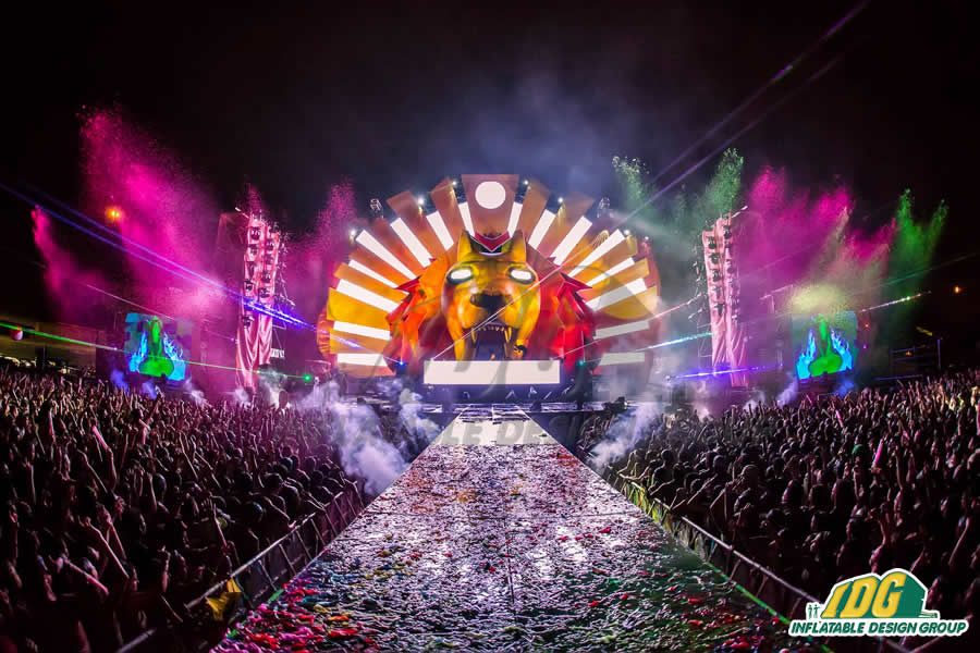 Festival Frenzy for Custom Inflatable Stages 1