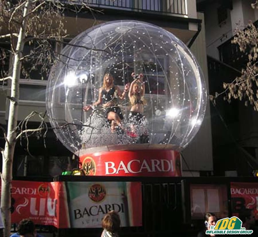 Inflatable Snow Globe to Bring the Blizzard to the Holiday Season