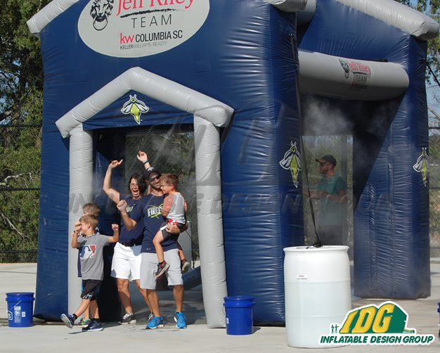 Cool Off With an Inflatable Misting Station