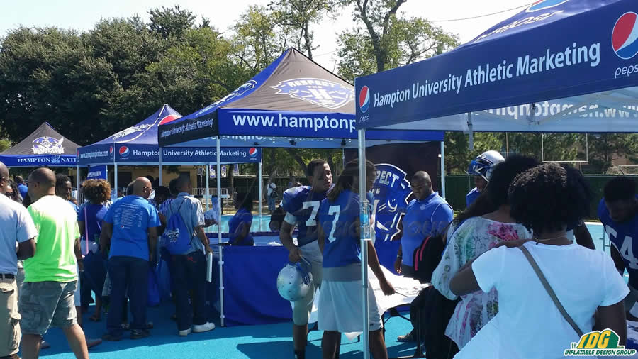 Promote in Style with IDG's Tents, Table Covers, and Flags!