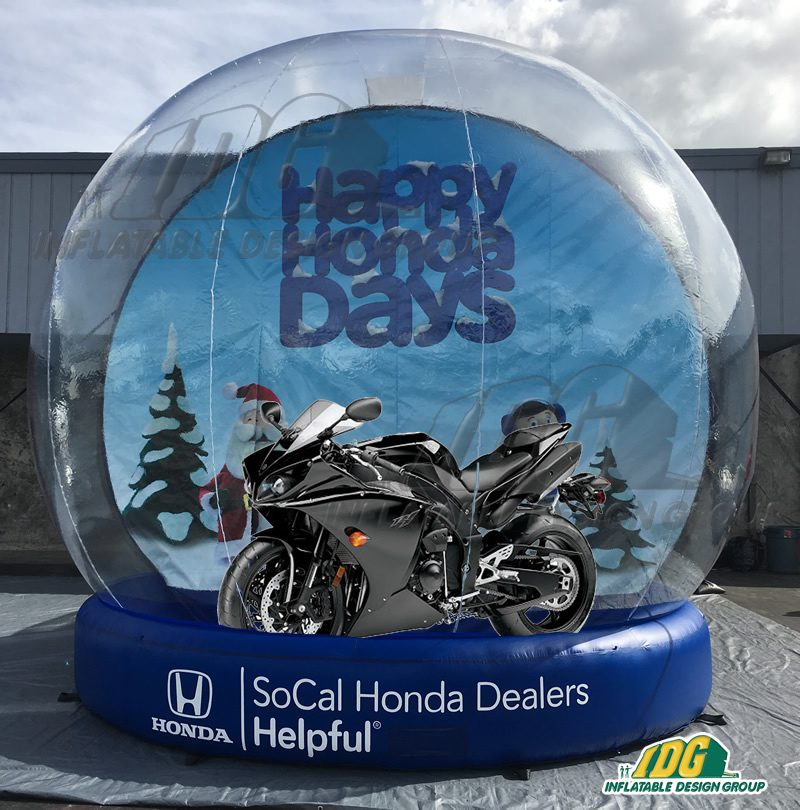 5 ways to promote your business or product with an INFLATABLE SNOW GLOBE