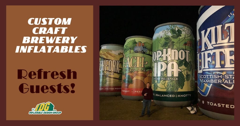 Custom craft brewery inflatables refresh guests! 9