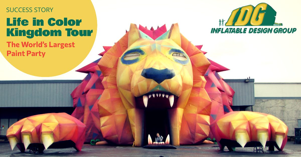 Success Story: Life In Color Custom Inflatable