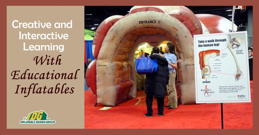 creative and interactive learning with educational inflatables