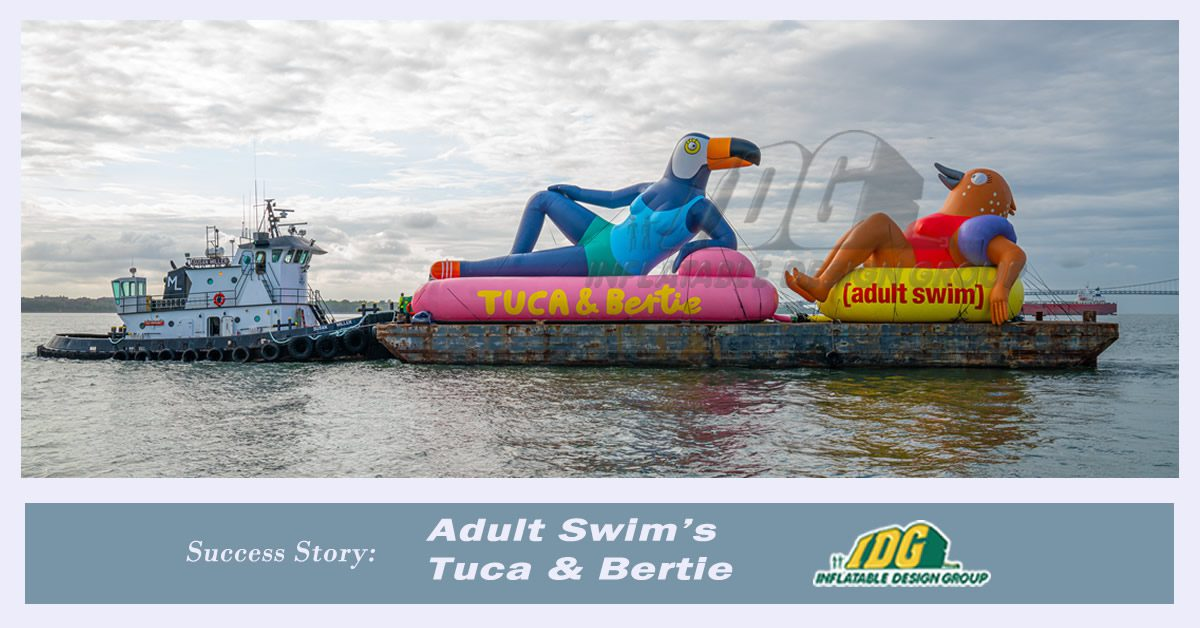 custom inflatable characters from adult swim animated show