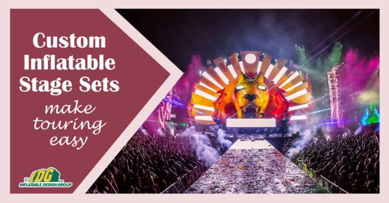 inflatable stage sets make touring easy