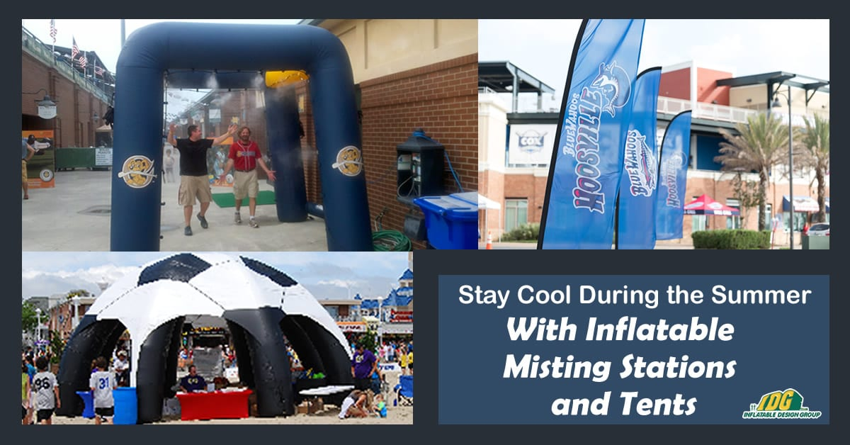 custom inflatable misting station and tent