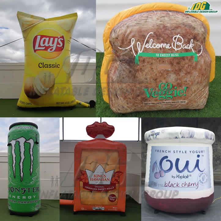 Make Mouths Water with Inflatable Food and Drink Products