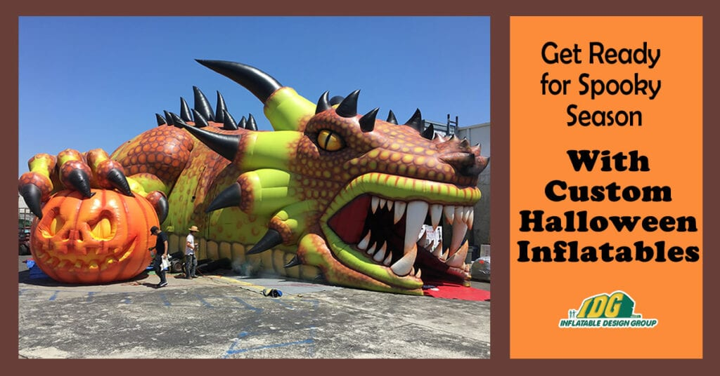 get ready for halloween with custom inflatables