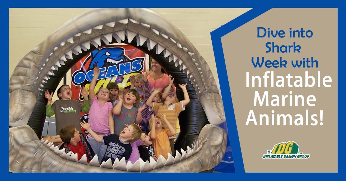 inflatable marine animal blog for shark week