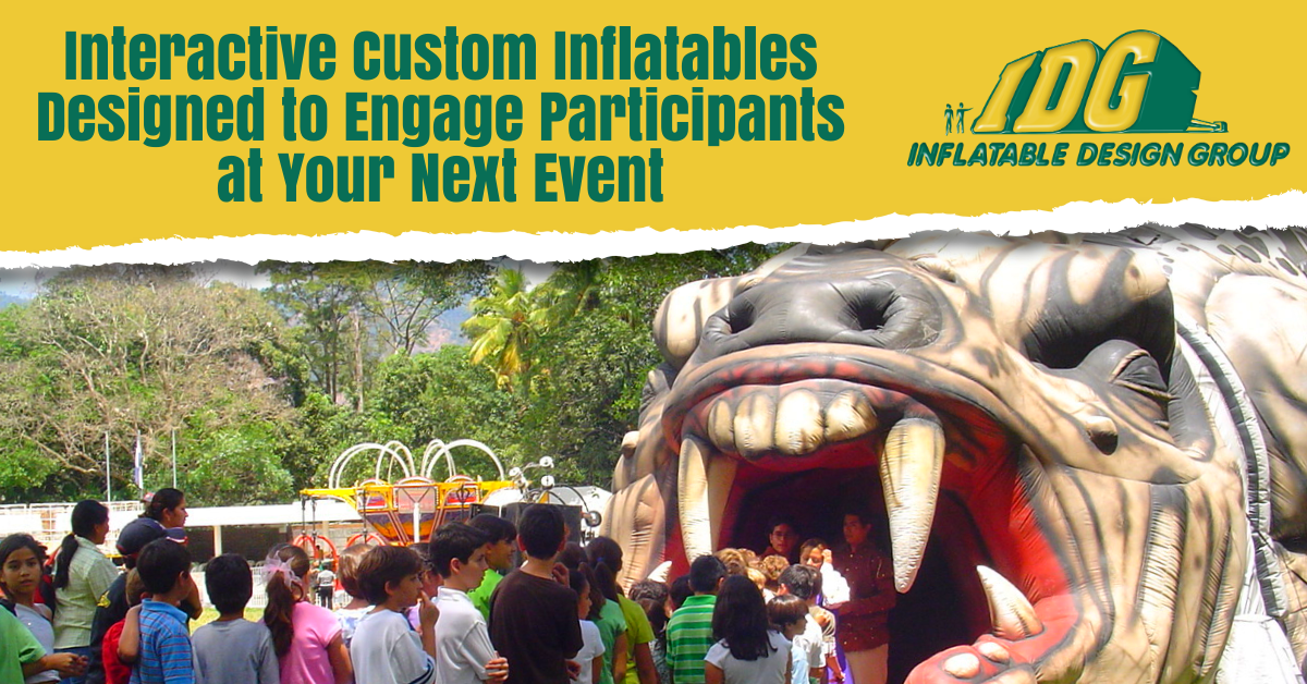 Interactive Custom Inflatables Designed to Engage Participants at Your Next Event