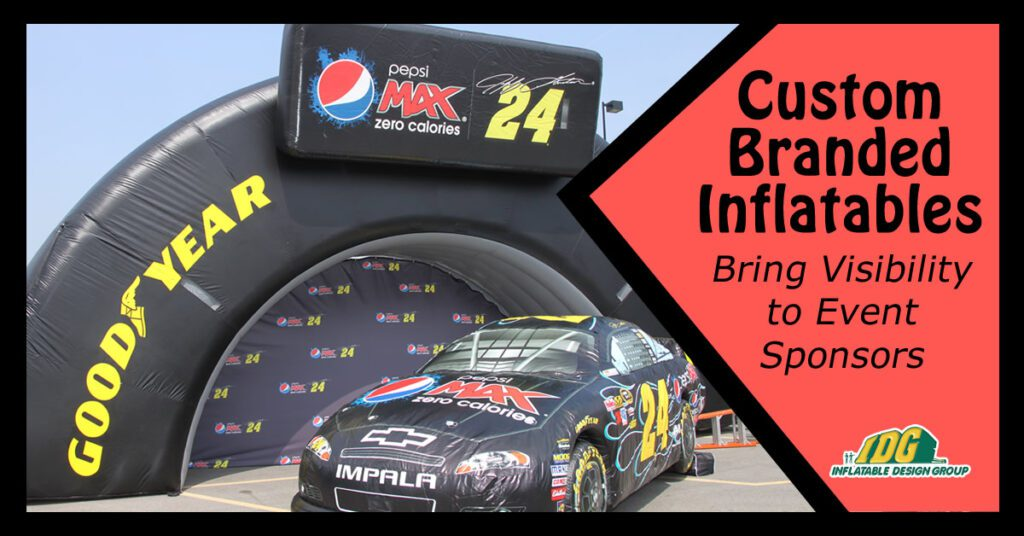 custom branded inflatables bring visibility to event sponsors