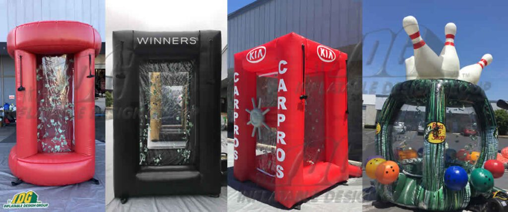 Inflatable Snow Globes and Money Machines Allow Guests to Get in on the Fun