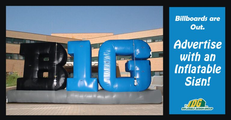 advertise with an inflatable sign