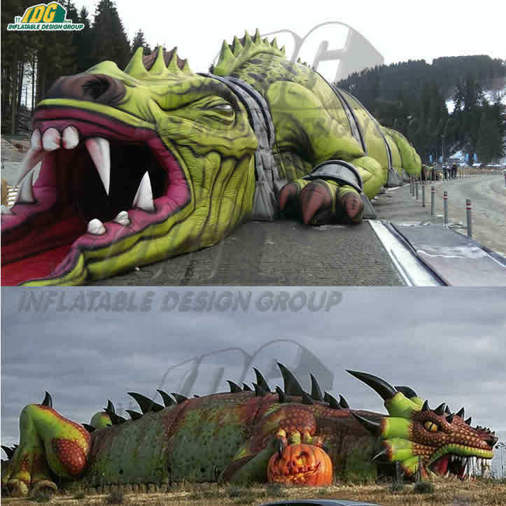 The Creature - a Custom Inflatable Haunted House