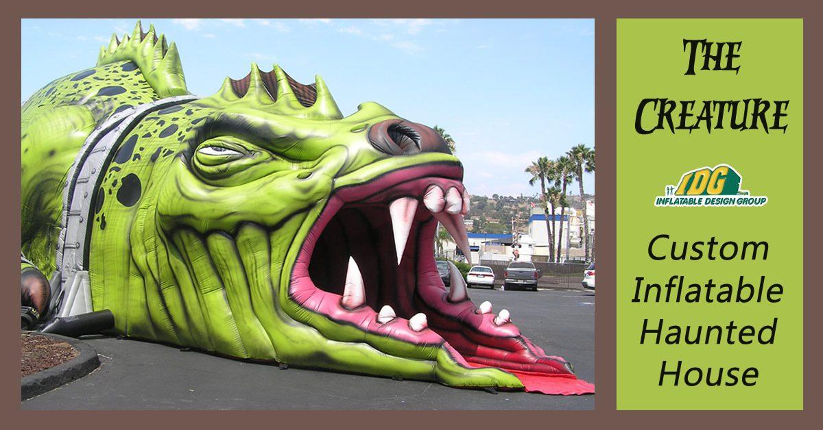 the creature custom inflatable haunted house maze