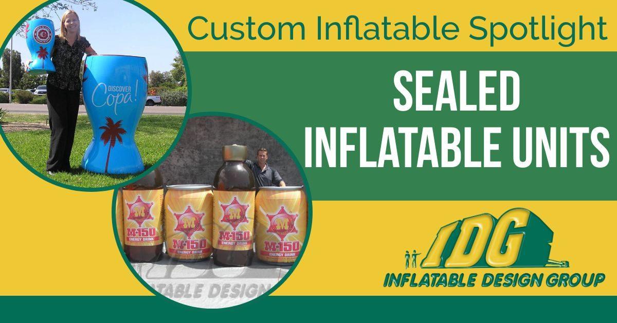 Custom Inflatable Spotlight: Sealed Inflatable Units