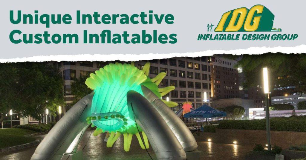 More Unique Interactive Custom Inflatables