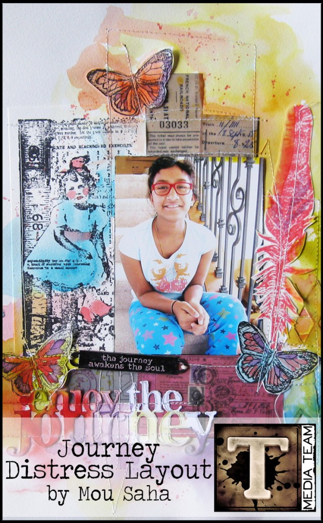 The Journey Distress Stain Layout | www.timholtz.com