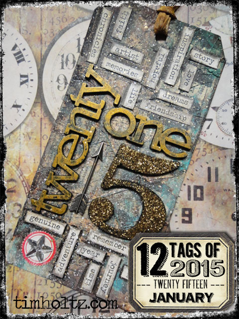 Tim Holtz 12 Tags of 2015 - January | www.timholtz.com