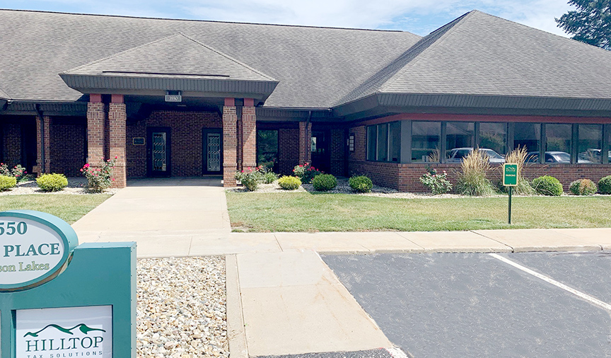 Hilltop Tax Solutions is located at 3500 Park Place West, Suite 300 in Mishawaka — just around the corner from Edison Parks' neighbor, Hilltop Wealth!