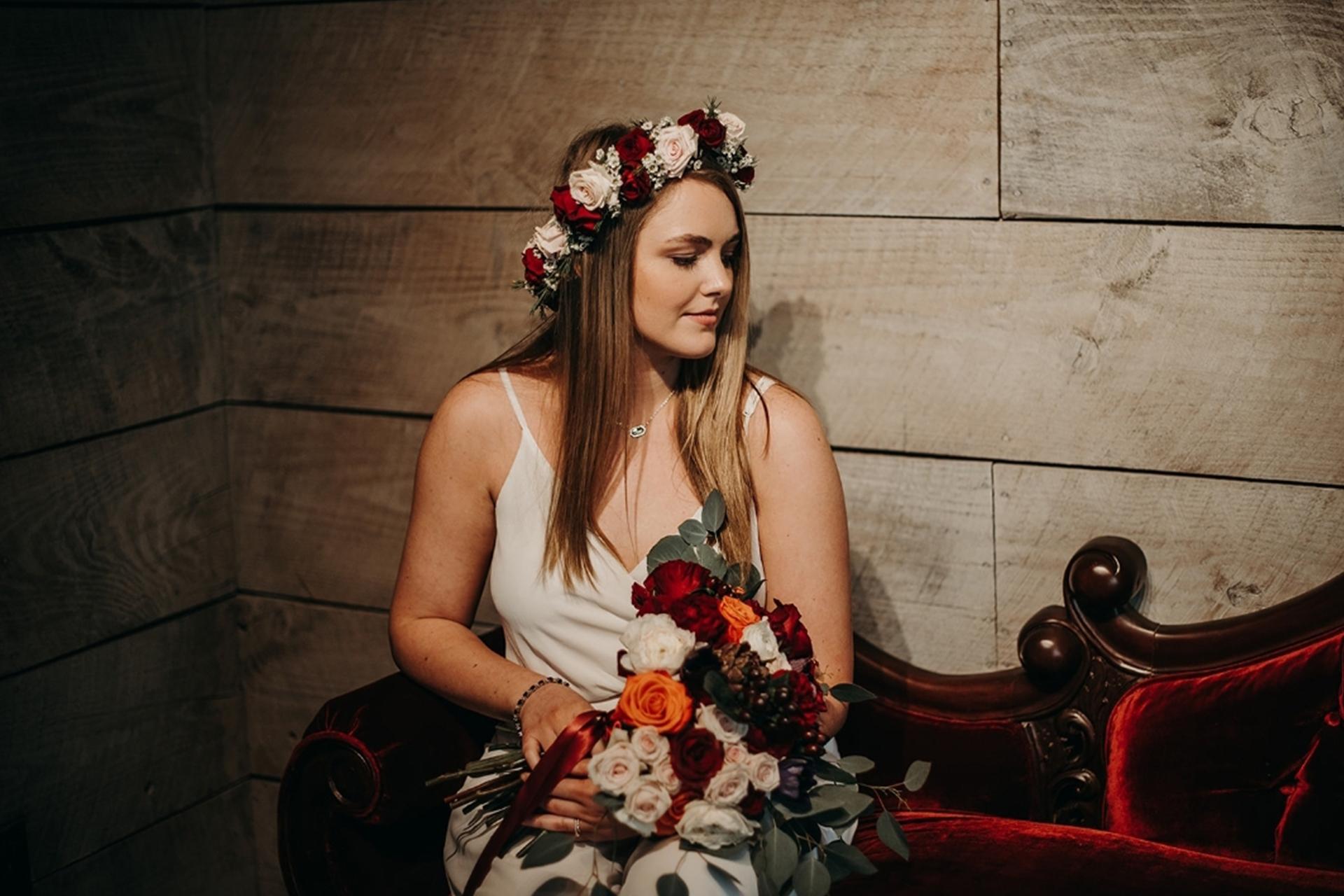 bride at The Rose Chapel