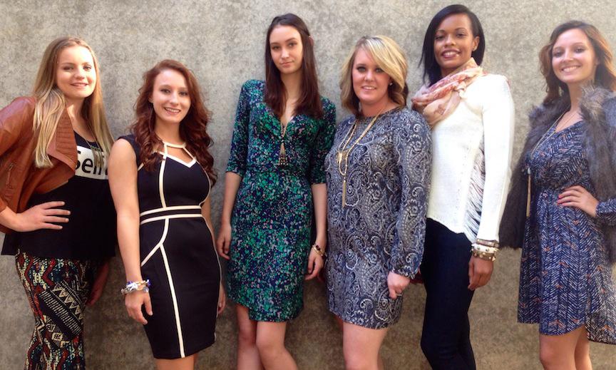 six ladies posing for Apricot Lane Boutique