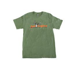 ani-logics green t-shirt front