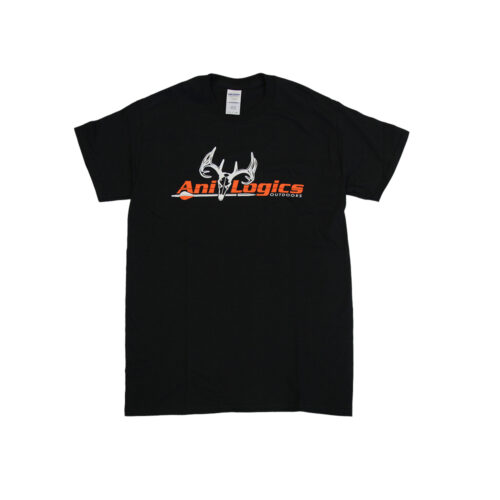 ani-logics original black t-shirt